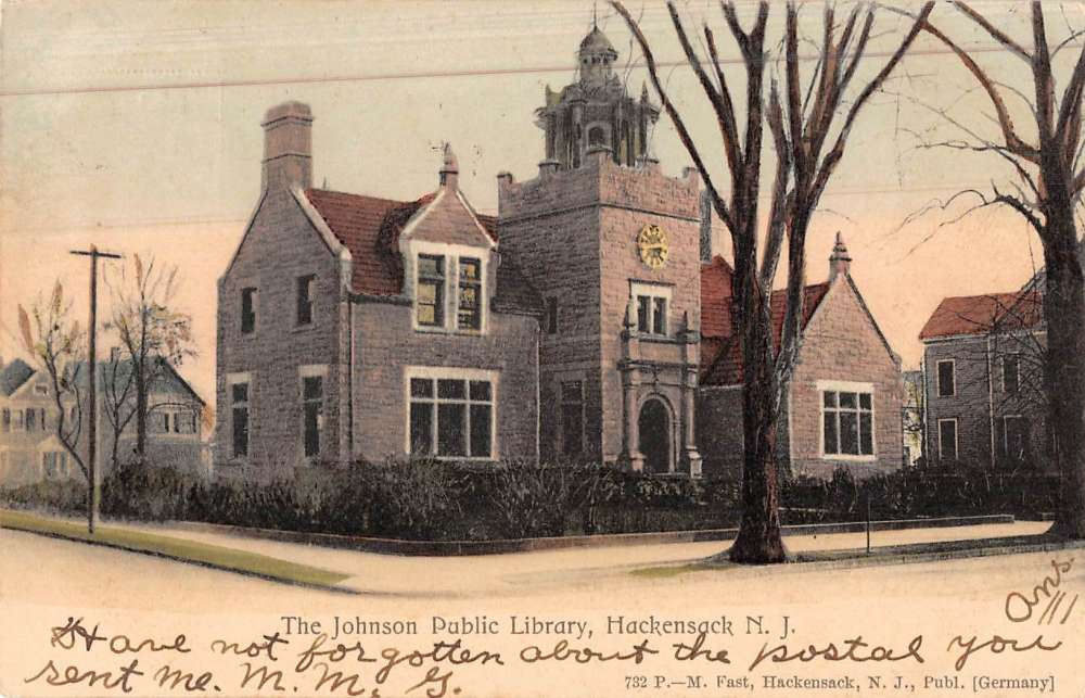 Hackensack New Jersey Johnson Public Library Antique