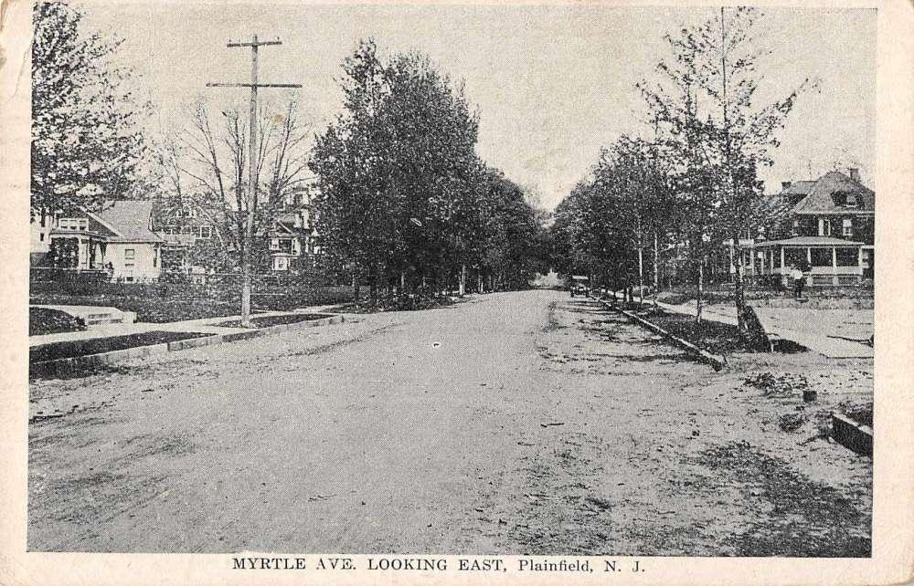 Plainfield New Jersey Myrtle Avenue Looking East Antique