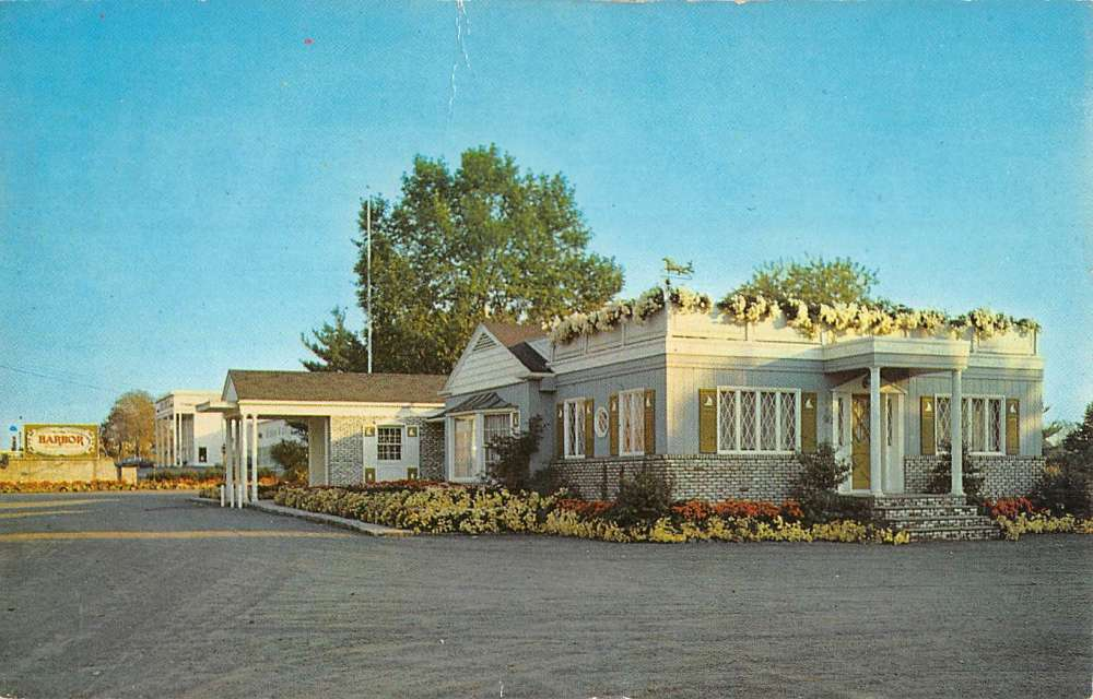 Parisppany New Jersey Harbor Inn Street View Vintage