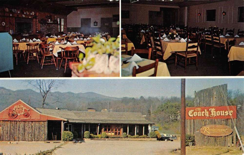 Black Mountain North Carolina Coach House Restaurant Vintage Postcard K54189 Mary L Martin Ltd Postcards