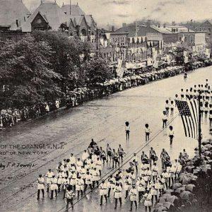 Orange New Jersey Centennial Parade Old Guard Antique Postcard K55472