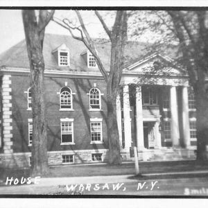 Warsaw New York Court House Real Photo Antique Postcard K55475