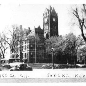 Topeka Kansas Shawnee Court House Real Photo Antique Postcard K55478