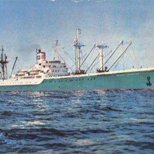 Alcoa Sails The Caribbean Steam Ship Passenger Freight Vintage Postcard K55830