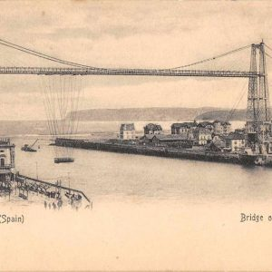 Bilbao Spain Bridge of Vizcaya Antique Postcard J63368