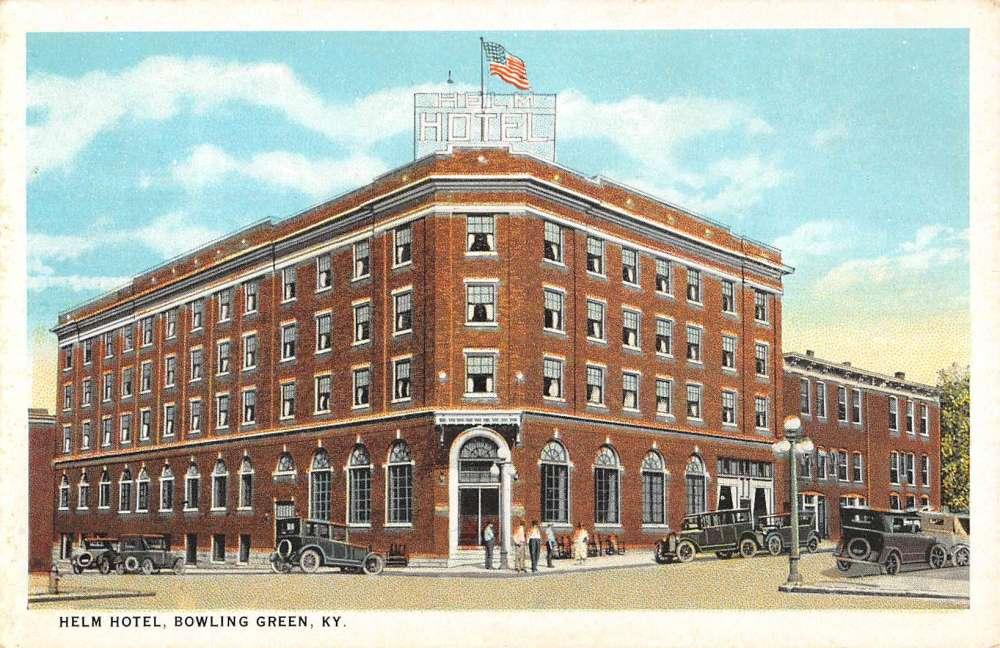 Bowling Green Kentucky Helm Hotel Street View Antique Postcard K56899