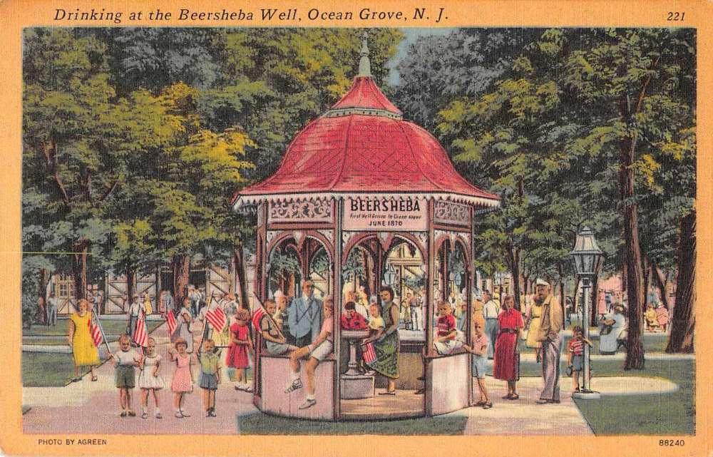 Ocean Grove New Jersey Beersheba Well Antique Postcard