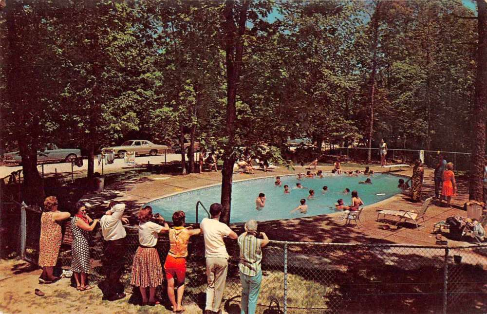 Wildwood New Jersey Holly Shores Campground Swimming Pool Postcard J63631 Mary L Martin Ltd