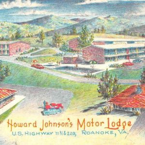 Roanoke Virginia Howard Johnsons Motor Lodge Vintage Postcard K57292
