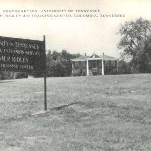 Columbia Tennessee University Training Center Antique Postcard K57302