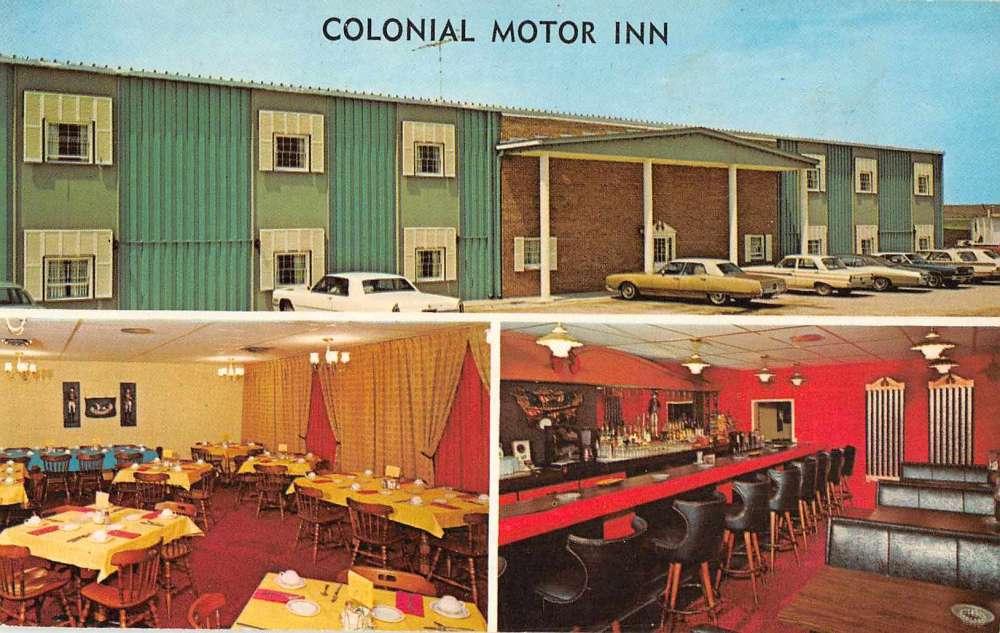 Walnut iowa colonial motor inn vintage postcard j64201 for Colony house motor lodge