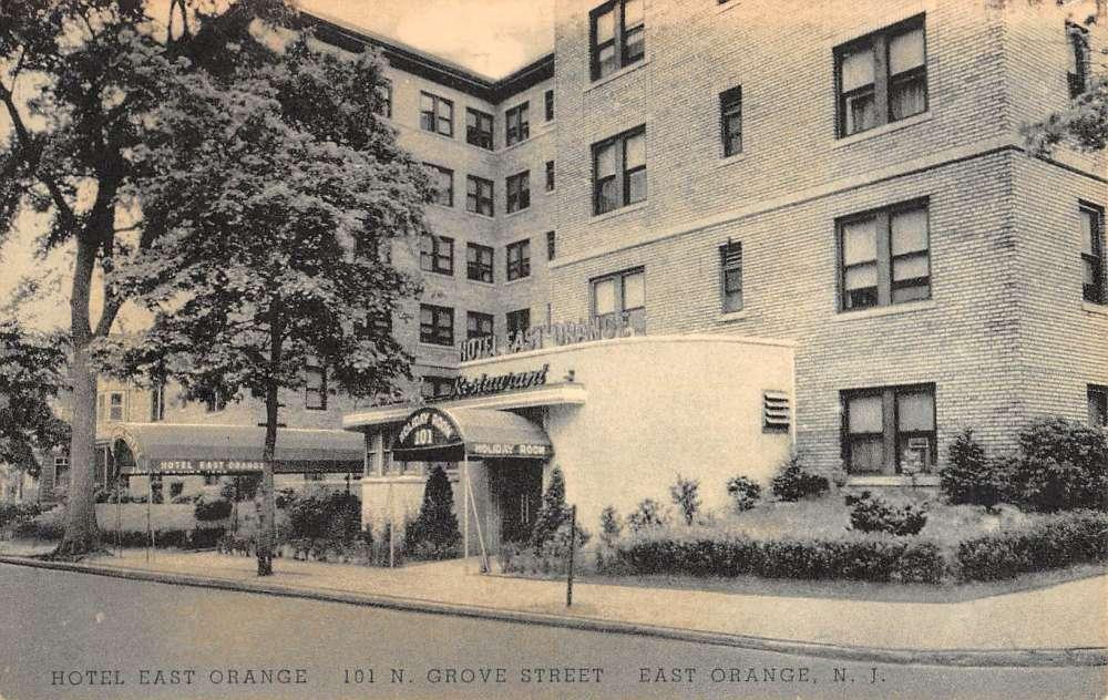 East Orange New Jersey Hotel Street View Antique Postcard