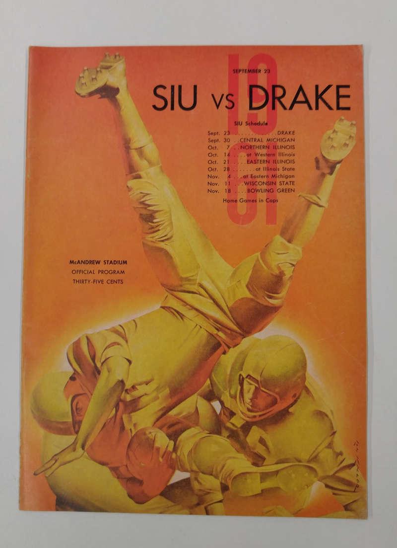 Southern illinois u vs drake football 1961 program j64949 for Drake program