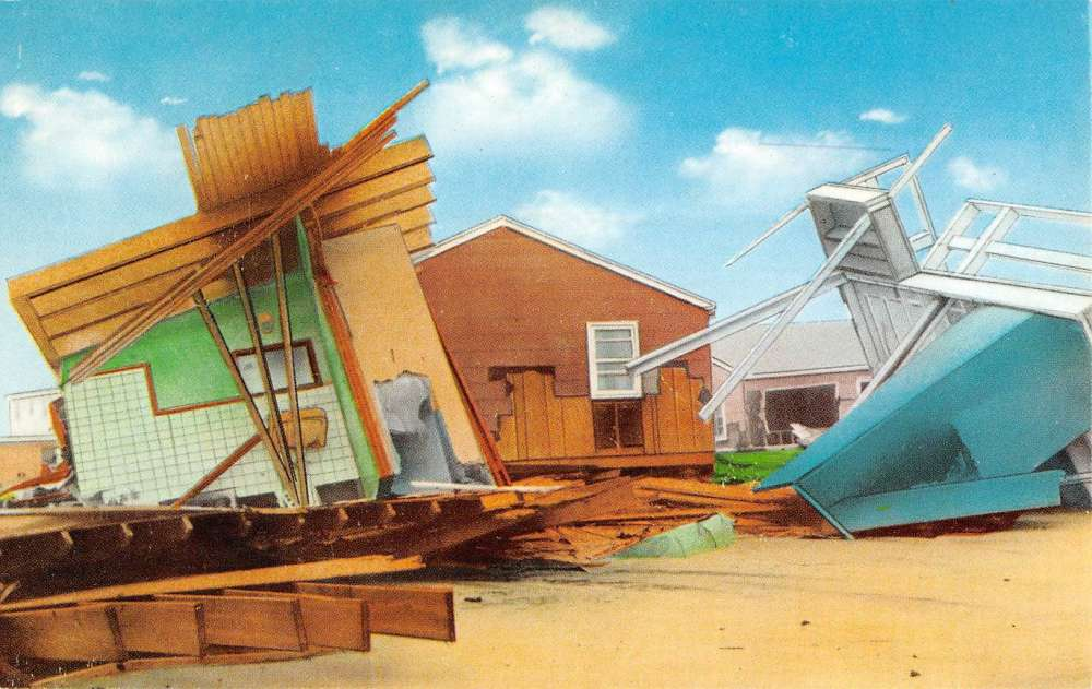 Ortley Beach New Jersey Destroyed Beach Home Vintage