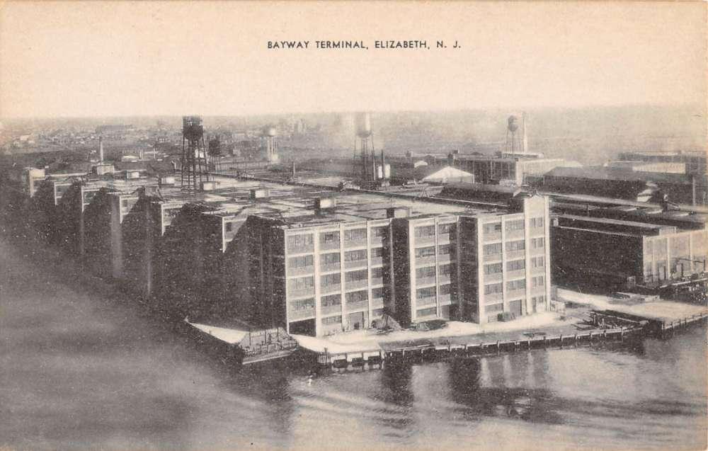 Elizabeth New Jersey Bayway Terminal Birdseye View Antique