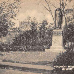 Summit New Jersey Bonnel Park Monument Street View Antique Postcard K61317