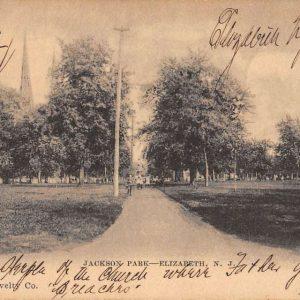 Elizabeth New Jersey Jackson Park Scenic View Antique Postcard K61326