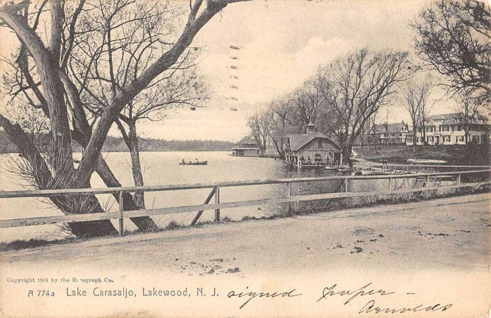 Lakewood New Jersey Lake Carasaljo Street View Antique