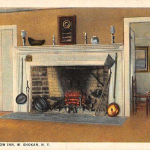 Shokan New York Watson Hollow Inn Interior Antique Postcard K61459