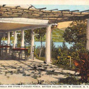 Shokan New York Watson Hollow Inn Pergola Porch Antique Postcard K61460