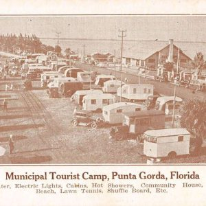 Punta Gorda Florida Municipal Tourist Camp Antique Postcard K61469