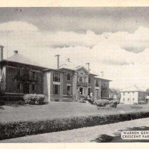 Warren Pennsylvania Crescent Park Hospital Antique Postcard K61478