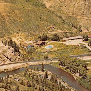 Hot Sulphur Springs Colorado Mineral Baths Birdseye View Vintage Postcard K62555