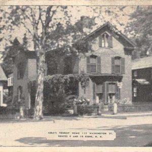 Keene New Hampshire Coles Tourist Home Street View Antique Postcard K63646