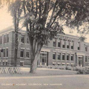 Colebrook New Hampshire Academy Street View Antique Postcard K63648