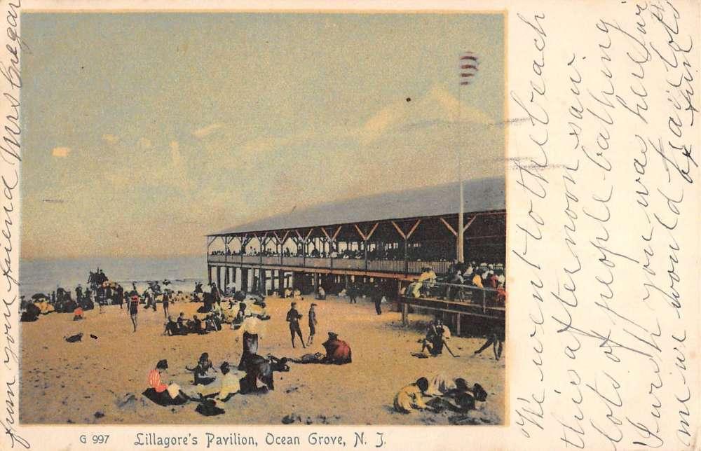 Ocean Grove New Jersey Lillagores Pavilion Beach Scene