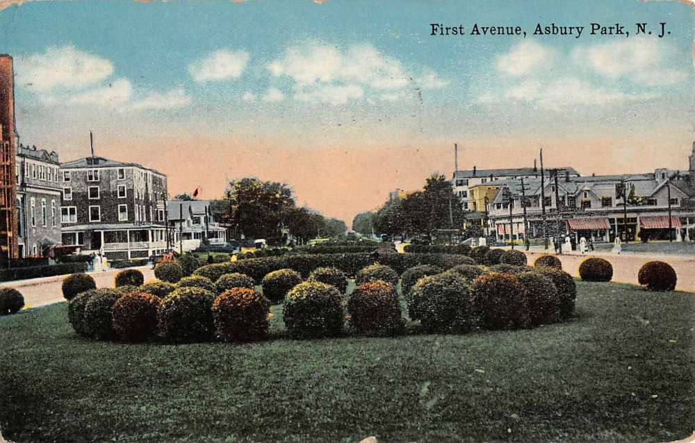 Asbury Park New Jersey First Ave Street Scene Antique