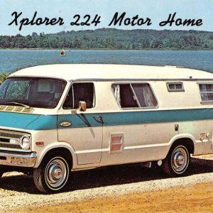 Xplorer 224 Motor Home Early Automobile Car Vintage Postcard K66683