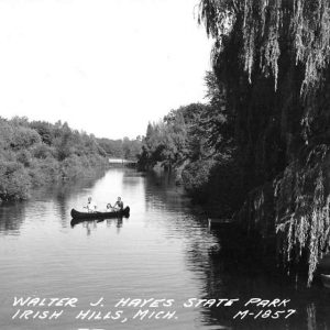 Irish Hills Michigan Hayes State Park Real Photo Antique Postcard K66684