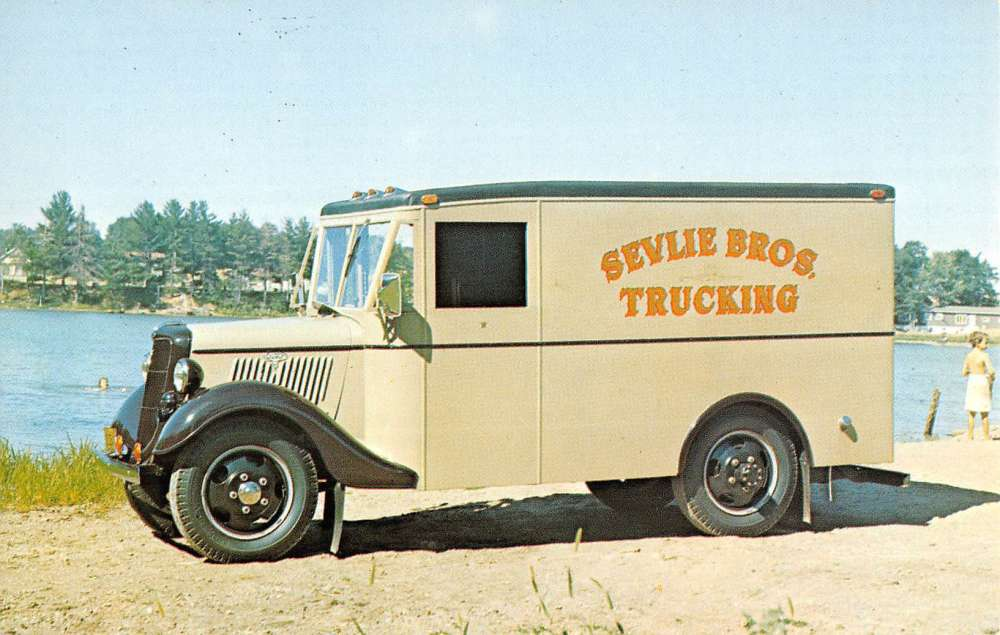 1935 Ford V8 Bread Truck Early Automobile Car Vintage Postcard K66702