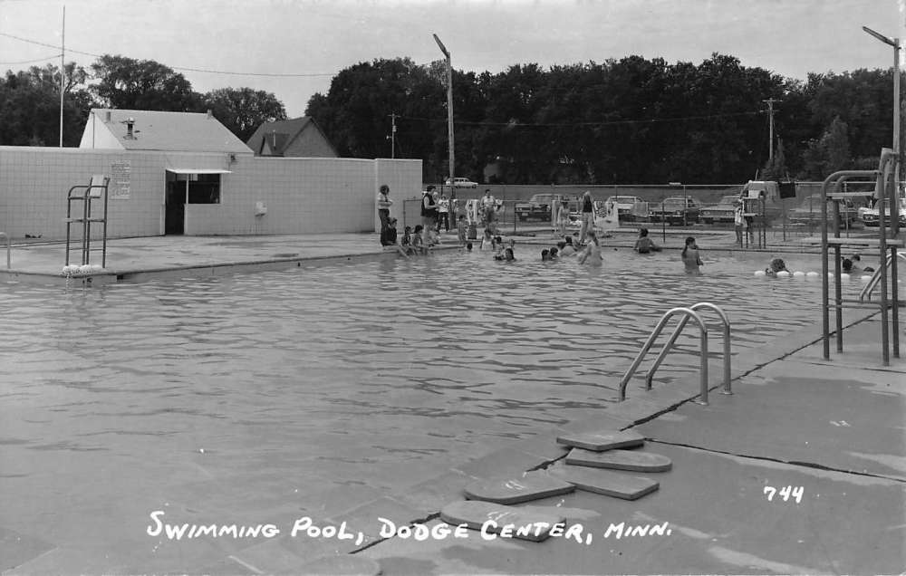Swimming Pool Antiques : Dodge center minnesota swimming pool real photo antique