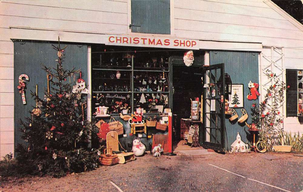 yarmouth port massachusetts christmas tree shops vintage postcard k69232 mary l martin ltd postcards