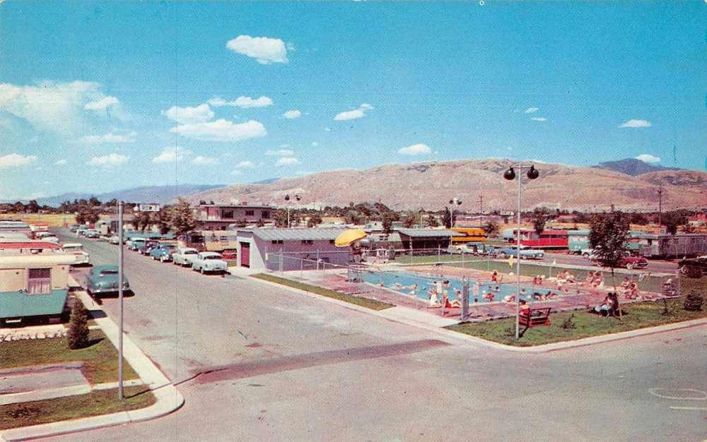 Salt Lake City Utah National Trailer Park Sales Swimming Pool Postcard J73016 Mary L Martin