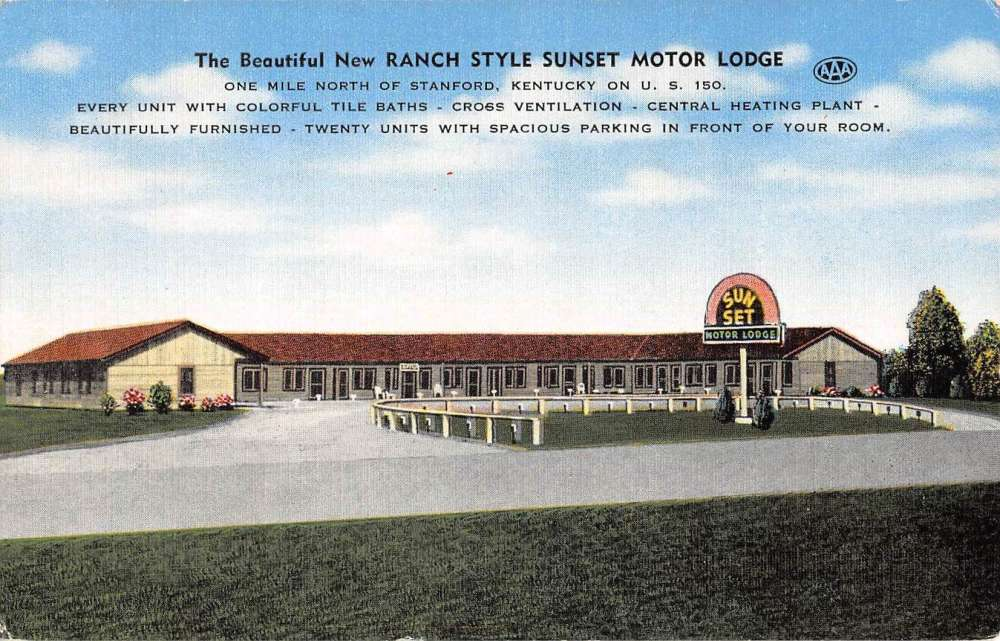 Stanford Kentucky Sunset Motor Lodge Street View Antique
