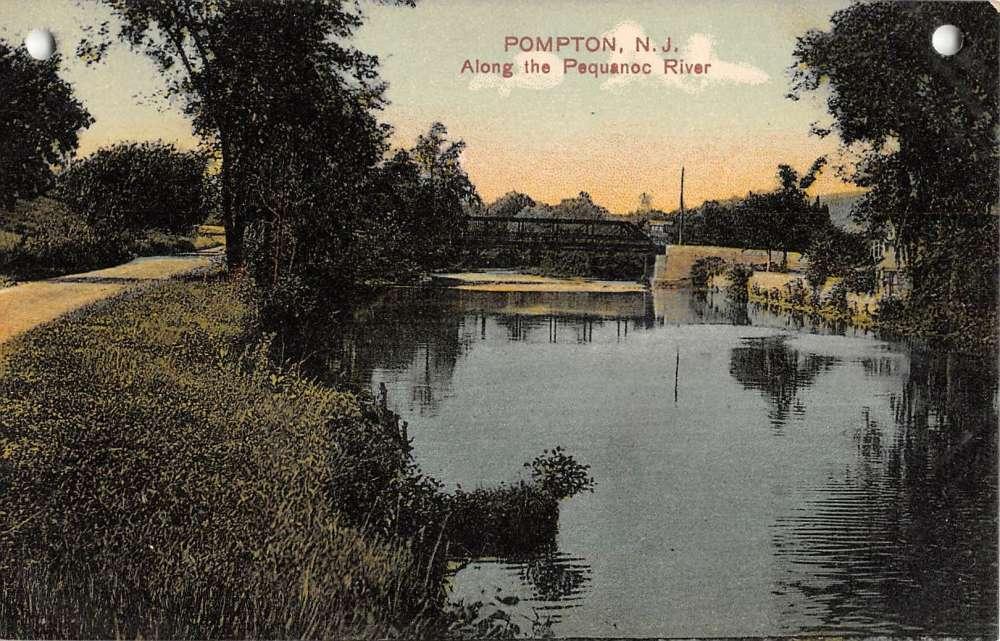 Pompton New Jersey Pequanoc River Waterfront Antique