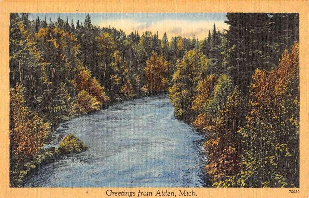 Alden michigan scenic waterfront greeting antique postcard k85476 alden michigan scenic waterfront greeting antique postcard k85476 mary l martin ltd postcards m4hsunfo