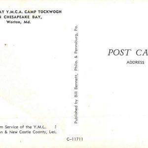Worton Maryland YMCA Camp Tockwogh Canoeing Vintage Postcard K86973