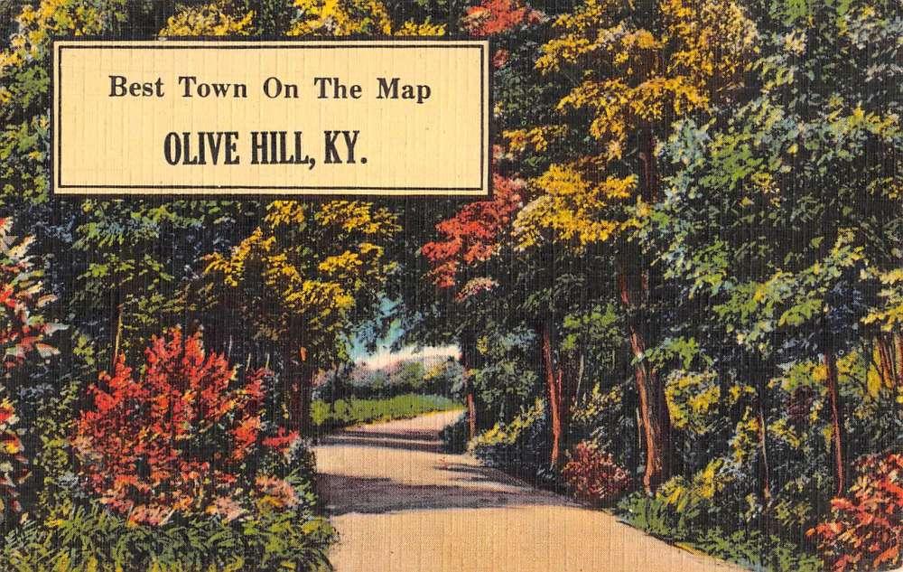 Olive Hill Kentucky Scenic Roadway Greeting Antique Postcard K93198 Mary L Martin Ltd Postcards