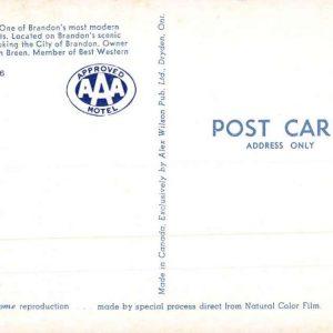 Brandon Manitoba Canada North Hill Motel Interior Vintage Postcard K94556