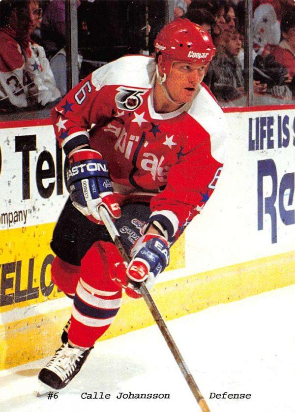 Calle Johansson Defense Hockey Player Washington Capitals Postcard K99594 -  Mary L. Martin Ltd. Postcards 39db241fc2e4